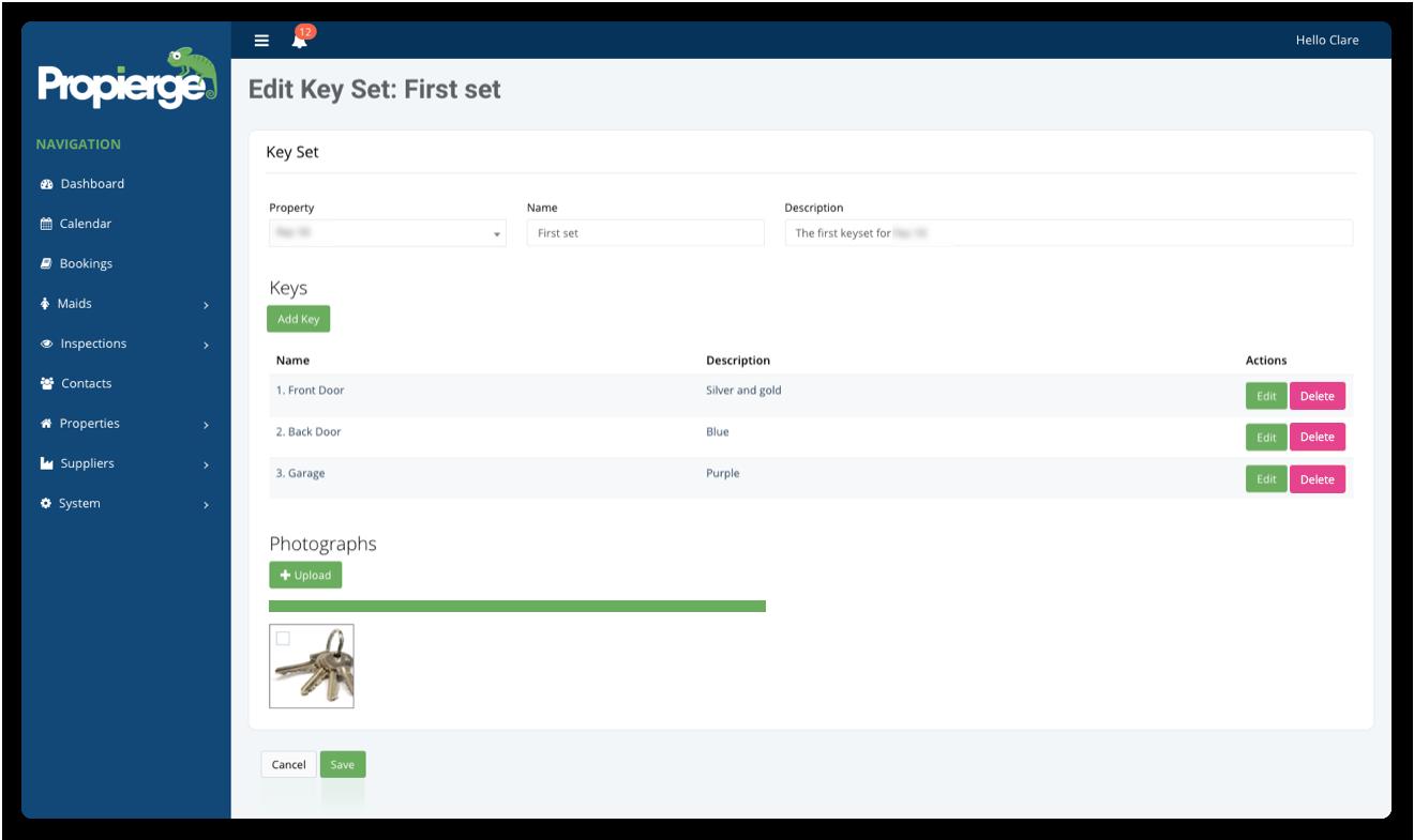 Propierge - Key Management System