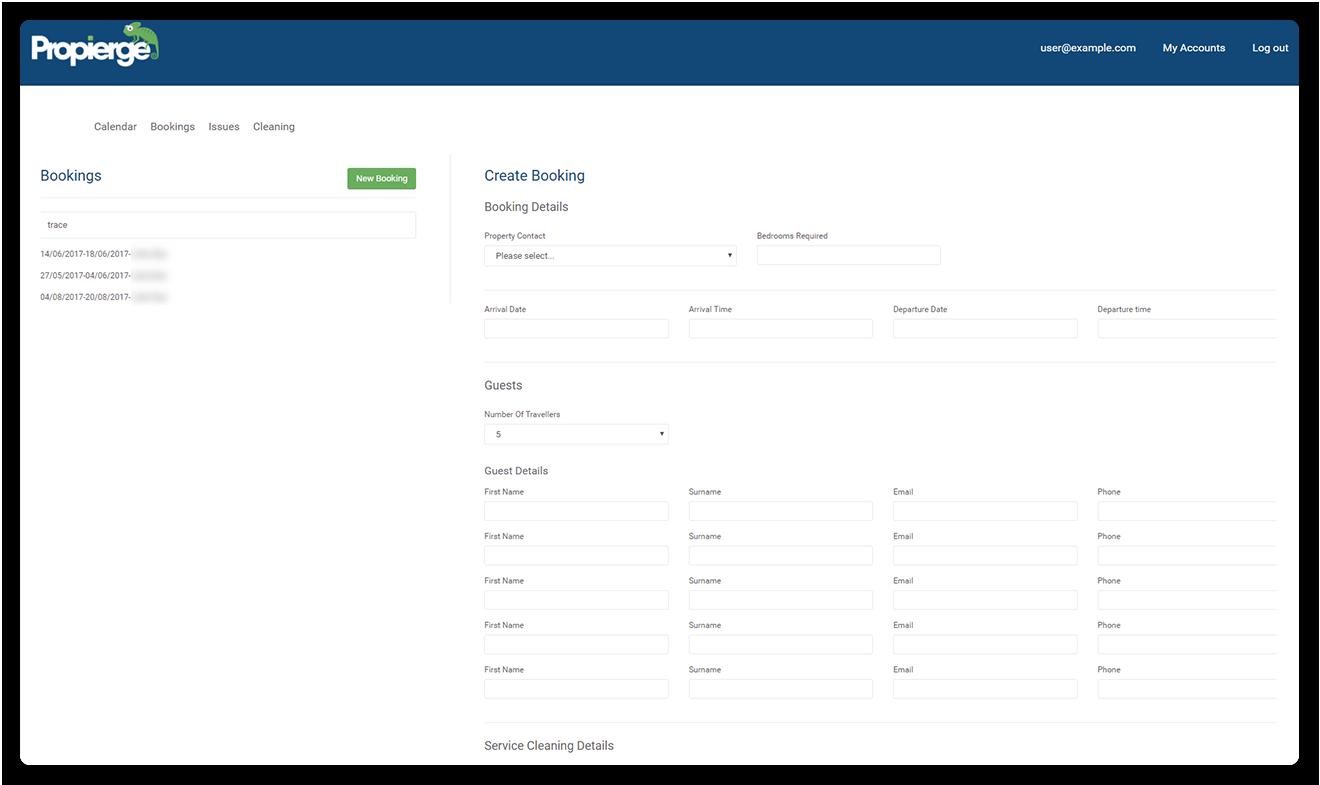 Propierge - Client Access/Portal