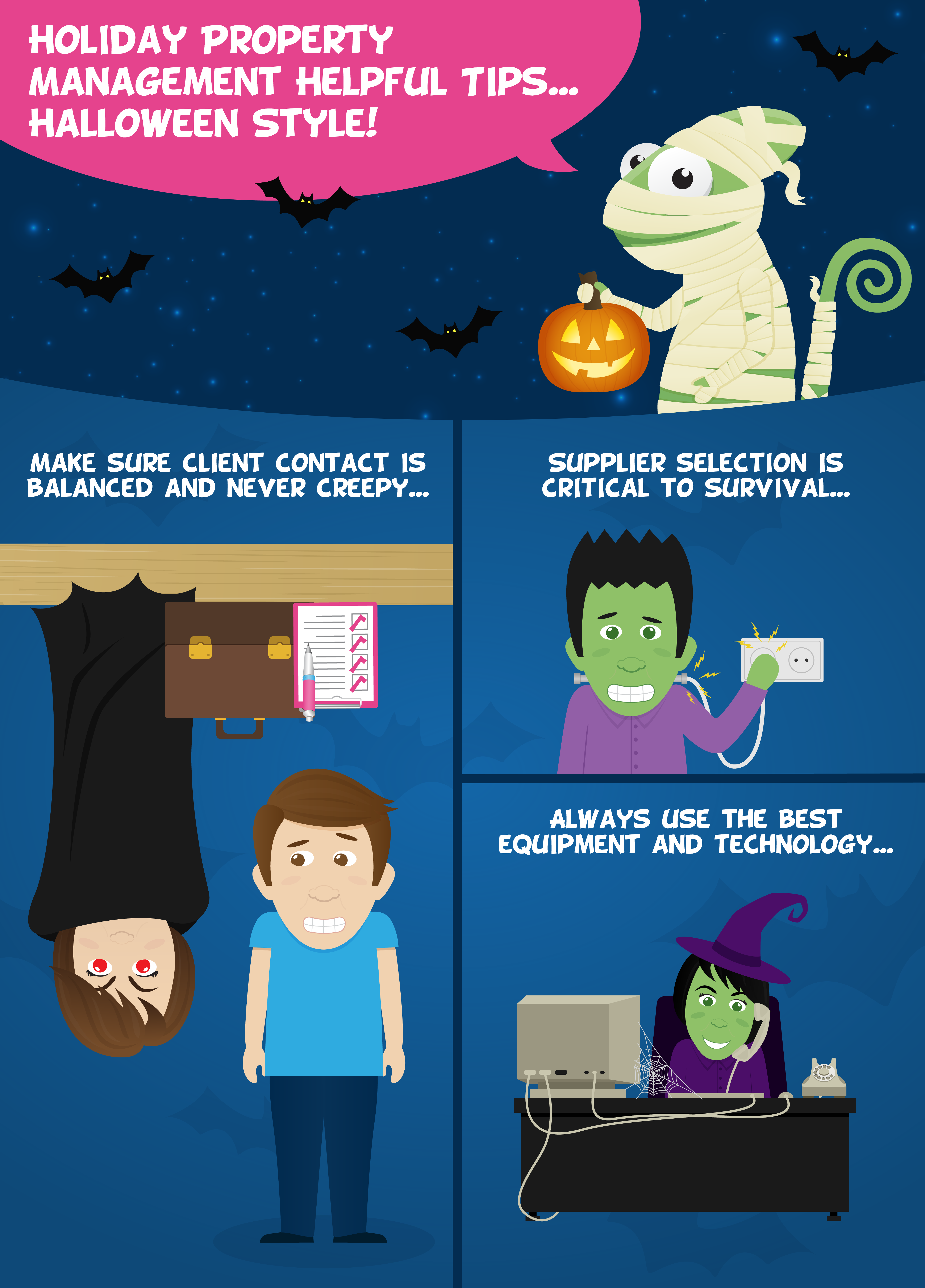 Holiday Property Management Helpful Tips… Halloween Style!
